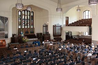 東北学院創立130周年を祝う記念式開催